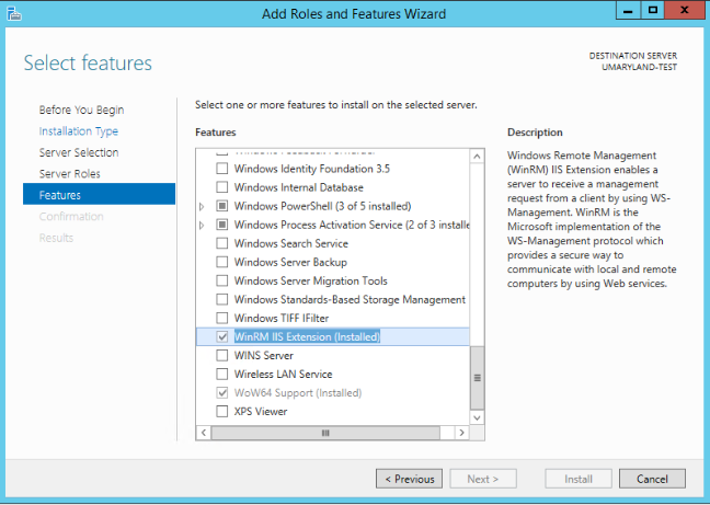 IIS 8 Add Roles And Features