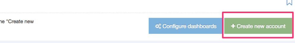 Screenshot of the Create New Analytics Account button